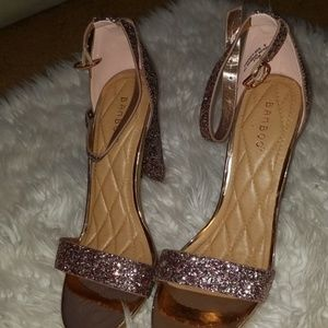 BAMBOO Shoes - Pink glitter heels size 9